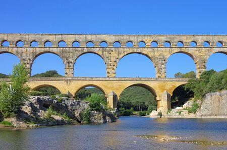 Pont du Gard Banque d'images