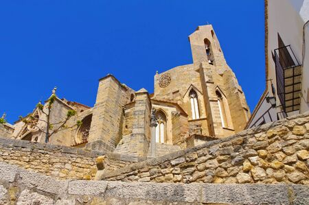 cathedral Santa Maria La Mayor in the old medieval town of Morella, Castellon in Spain