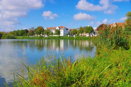 Schwerin in Germany, the lake Burgsee 写真素材