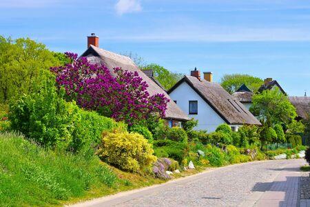the village Gross Zicker on the island of Ruegen, Germany