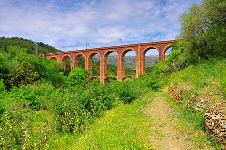 railway bridge Viaducte dels Masos in Duesaigues, Catalonia in Spain