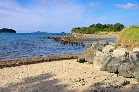 Paimpol beach in Brittany, France
