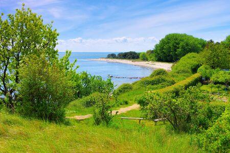 the beach on the island of Ruegen near Thiessow 写真素材
