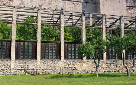 Torri del Benaco lemon garden on Lake Garda in Italy