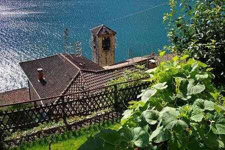 Gandria small village on Lake Lugano, Switzerland