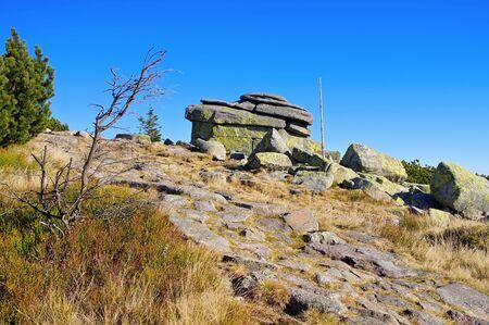 Maiden Rocks in Giant  Mountains in Bohemia
