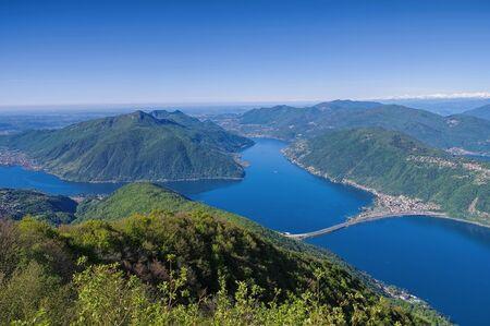 Lake Lugano as seen from Sighignola, Italy
