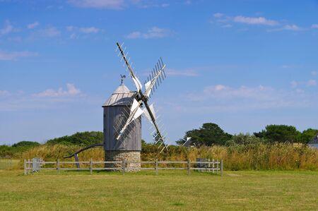 Moulin de Trouguer windmill in Brittany, France 写真素材