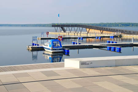Senftenberg harbour Brandenburg in Germany, Lusatian Lake District