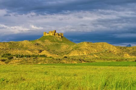Castillo de Montearagon near Huesca, Aragon in Spain
