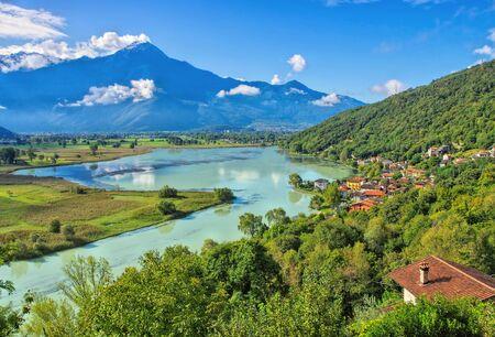 Dascio Lake Como, Lombardy in Italy