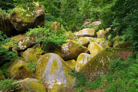 Huelgoat forest  Le Menage de la Vierge in Brittany, France