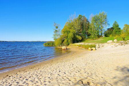 Senftenberg Lake beach Buchwalde Lusatian Lake District, Germany
