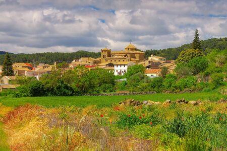 the medieval village  Biscarrues in Aragon, Spain