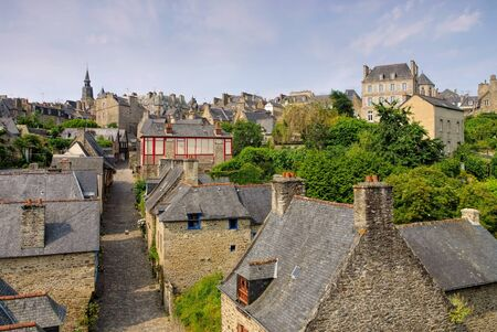 town Dinan in Brittany, France