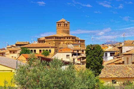 the medieval church in Abiego, Aragon, Spain