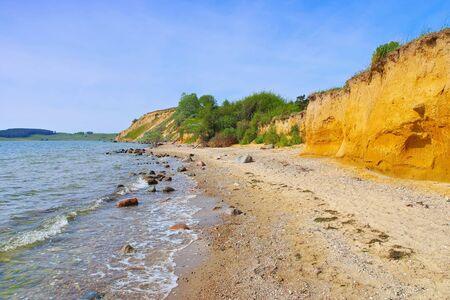the cliff coast on the island of Ruegen near Klein Zicker 写真素材