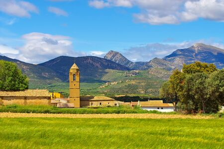 the medieval town of Loporzano in Aragon, Spain