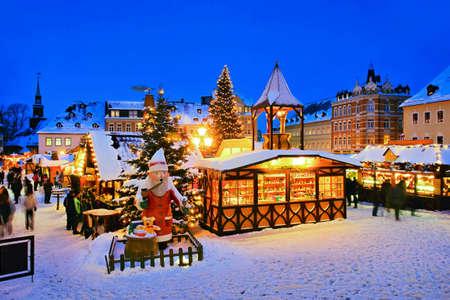 Annaberg-Buchholz christmas market in Germany Archivio Fotografico