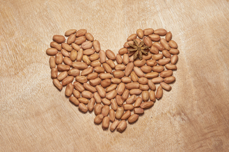 consisting: patterns consisting of nuts Stock Photo
