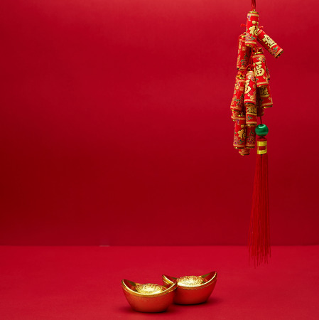 Materiales del Festival de Año Nuevo Chino. Foto de archivo