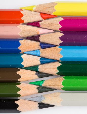Colored pencils close-up Banque d'images