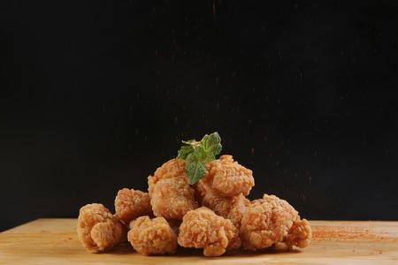 popcorn chicken 版權商用圖片