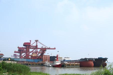 Port of gantry crane Zdjęcie Seryjne