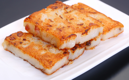 Pan-fried radish cake 스톡 콘텐츠