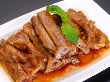 Marinated duck wings