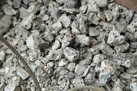 Iron ore iron ingot Stock Photo