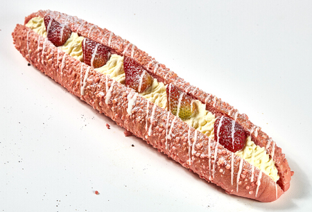 baguette with strawberry