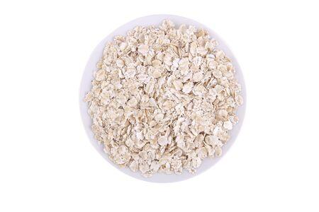 Oatmeal on white background