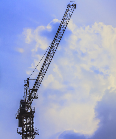 Tower crane on the construction site Stock Photo
