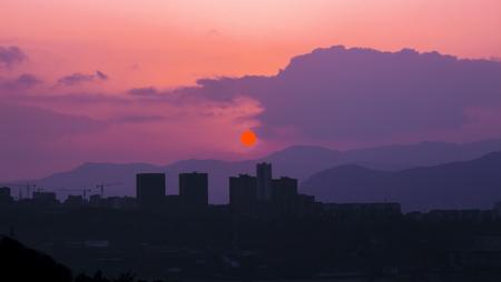 The border city evening sunset