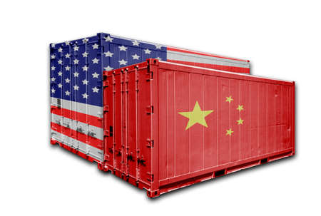 The trade friction between China and the U.S. triggers a trade war 写真素材