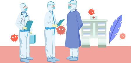 Flat wind doctor nurse consultation illustration Ilustrace