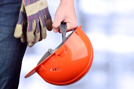 Trabajador en un sitio de construcción