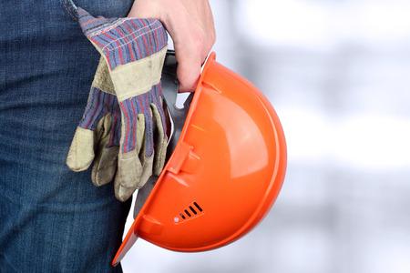 Worker in a construction site Archivio Fotografico