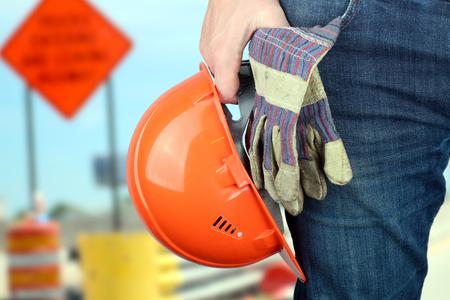 gewerkschaft: Arbeiter in einer Baustelle Lizenzfreie Bilder