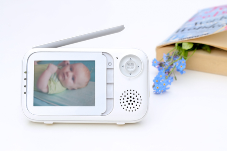 security monitor: The close up baby monitor for security of the baby
