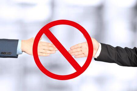 Stop shaking hands   between people. Covid - 19. Coronavirus