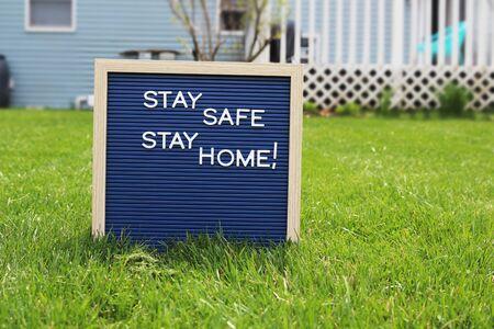 Stay home quarantine coronavirus pandemic prevention. Stay at home Safe lives Standard-Bild - 149826823