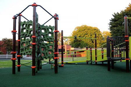 empty children playground during the coronavirus quarantine Standard-Bild - 149826830