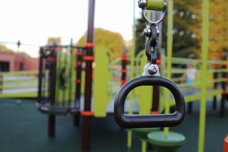 empty children playground during the coronavirus quarantine Standard-Bild - 149826834