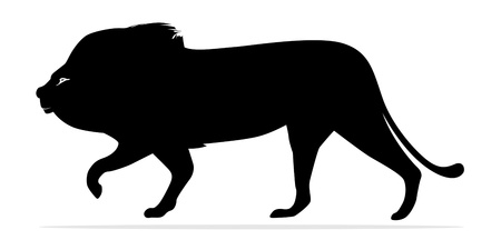 A lion silhouette stands for power
