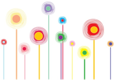 Colorful lollipops isolated can be used as food package or wallpaper, etc.