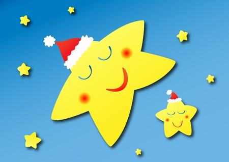 Sleeping stars shining in the sky are sleeping