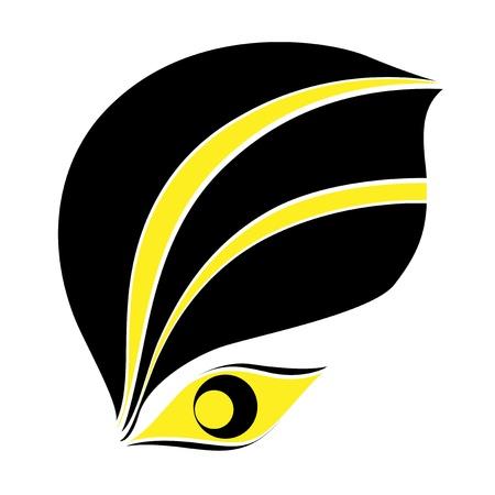 Yellow and black eye icon