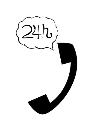 phonecall: 24 hours customer service symbol